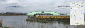管理人が撮影・予想した市道藤田浦安南町線の橋梁部分