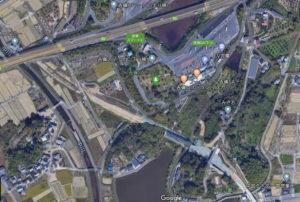 総社一宮バイパス 工事中の航空写真